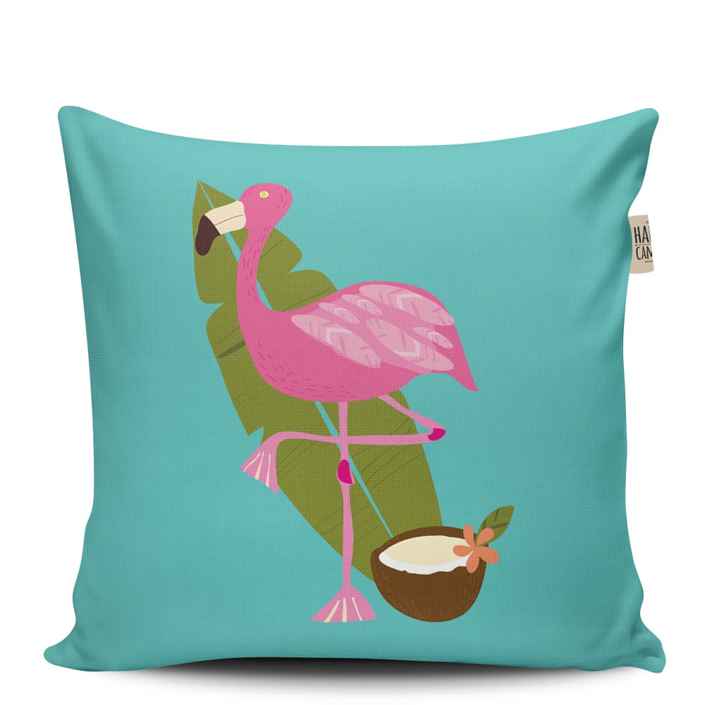 The Happy Camper Big Flamingo Cushion Cover 40x40cm