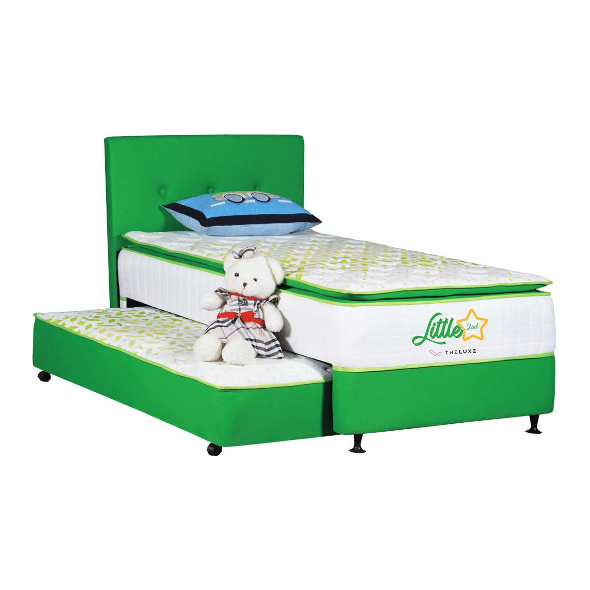 The Luxe Fullset Kasur 2in1 Little Star 120x200 - Green