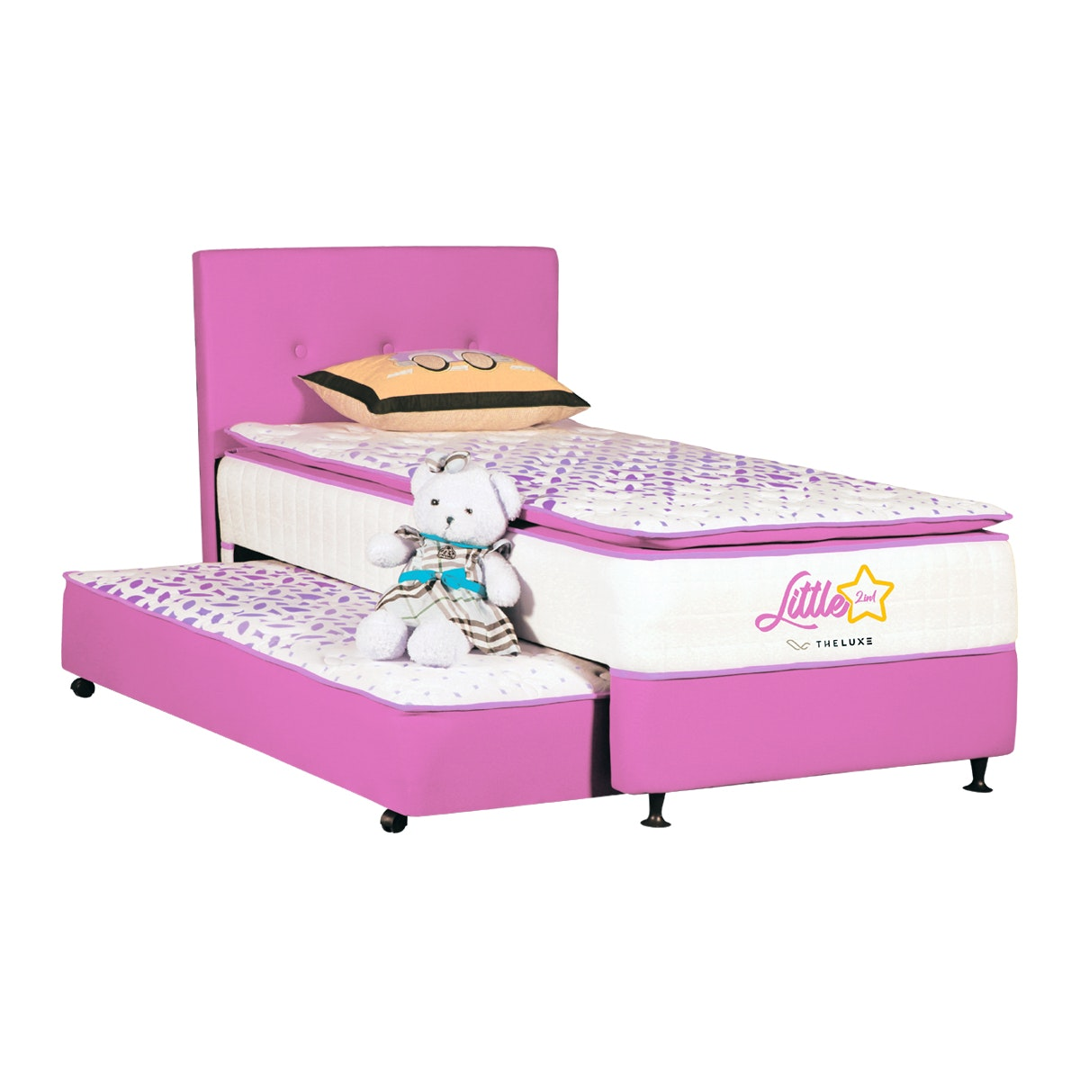 The Luxe Fullset Kasur 2in1 Little Star 120x200 - Pink