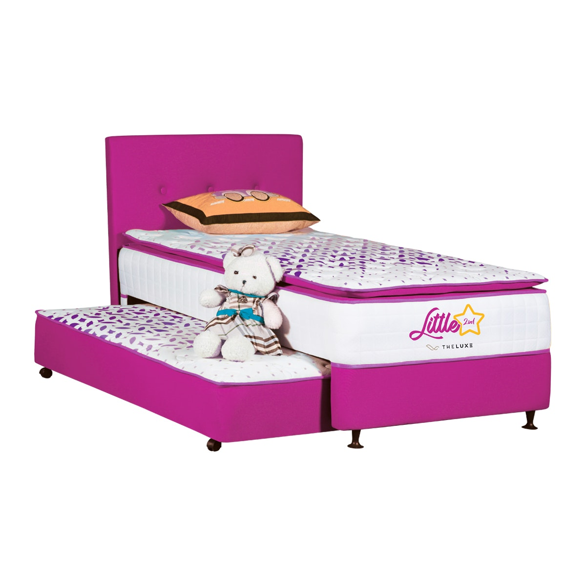 The Luxe Fullset Kasur 2in1 Little Star 120x200 - Purple