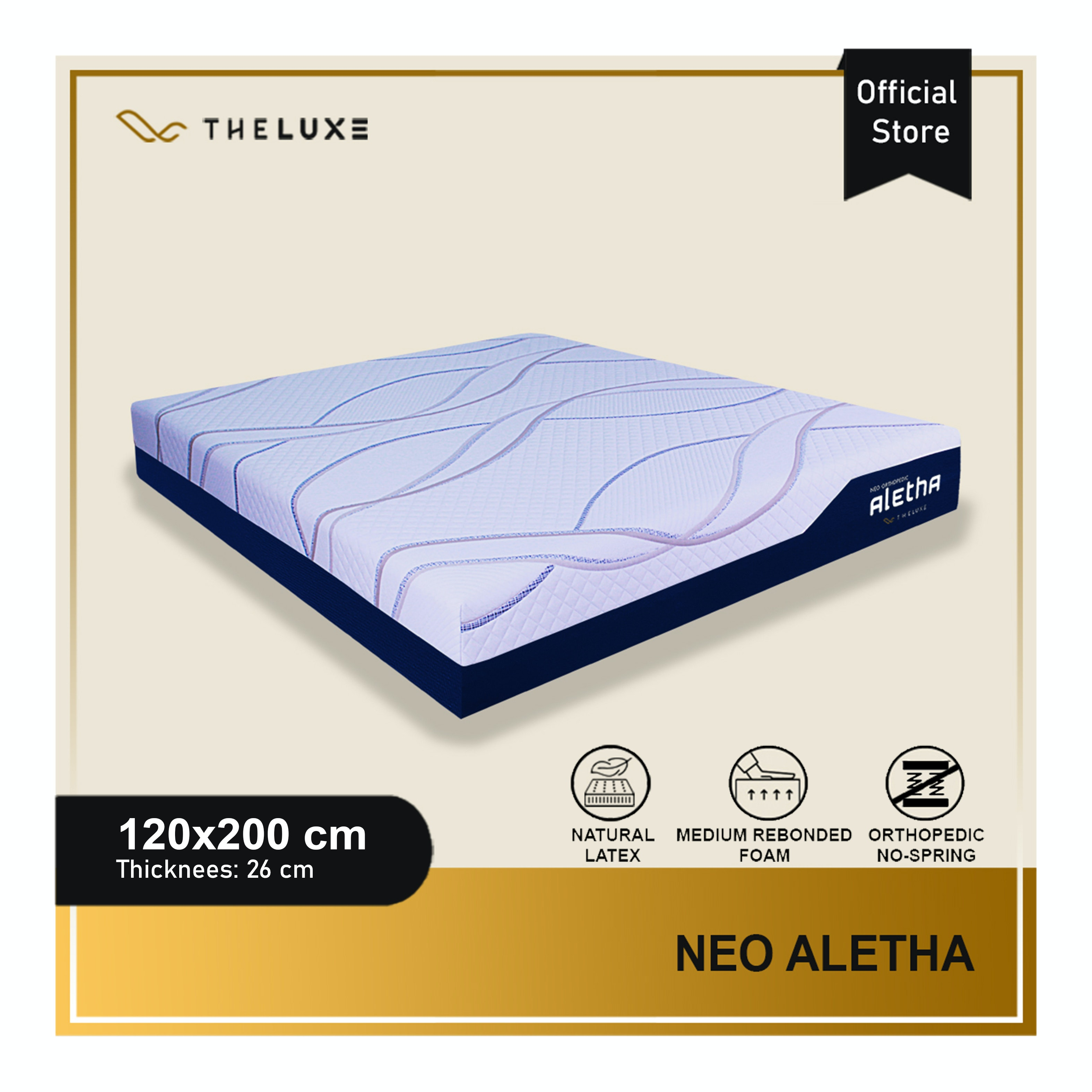The Luxe Kasur Aletha Rebounded Uk 120x200