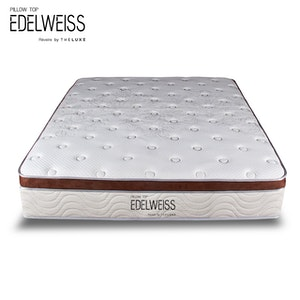 The Luxe Springbed The Luxe Matrress Edelweiss Pillow Top 120x200cm Khusus JABODETABEK