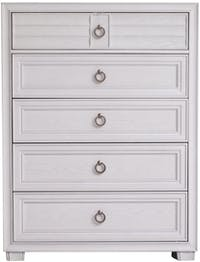 Kana Furniture Chest Drawer Chicago Grey White