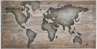 Kana Furniture Lukisan 6529 Painting On Wood Board Map CE-204 CNYU-Grey
