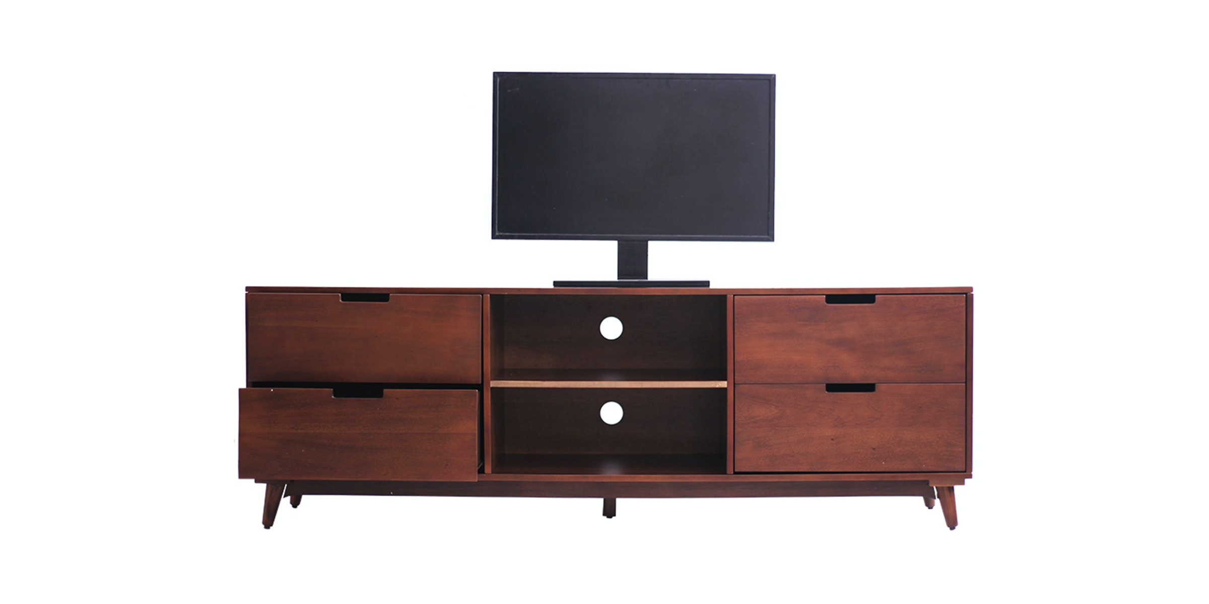 Thema Home Tv Stand Rondane Skandi Walnut Integ