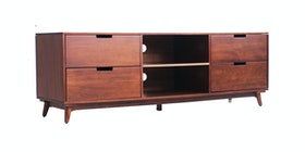 Kana Furniture Tv Stand Rondane Skandi Walnut Integ