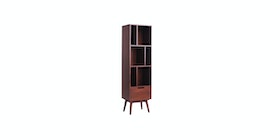 Kana Furniture Bookcase Rondane Skandi Walnut Integ