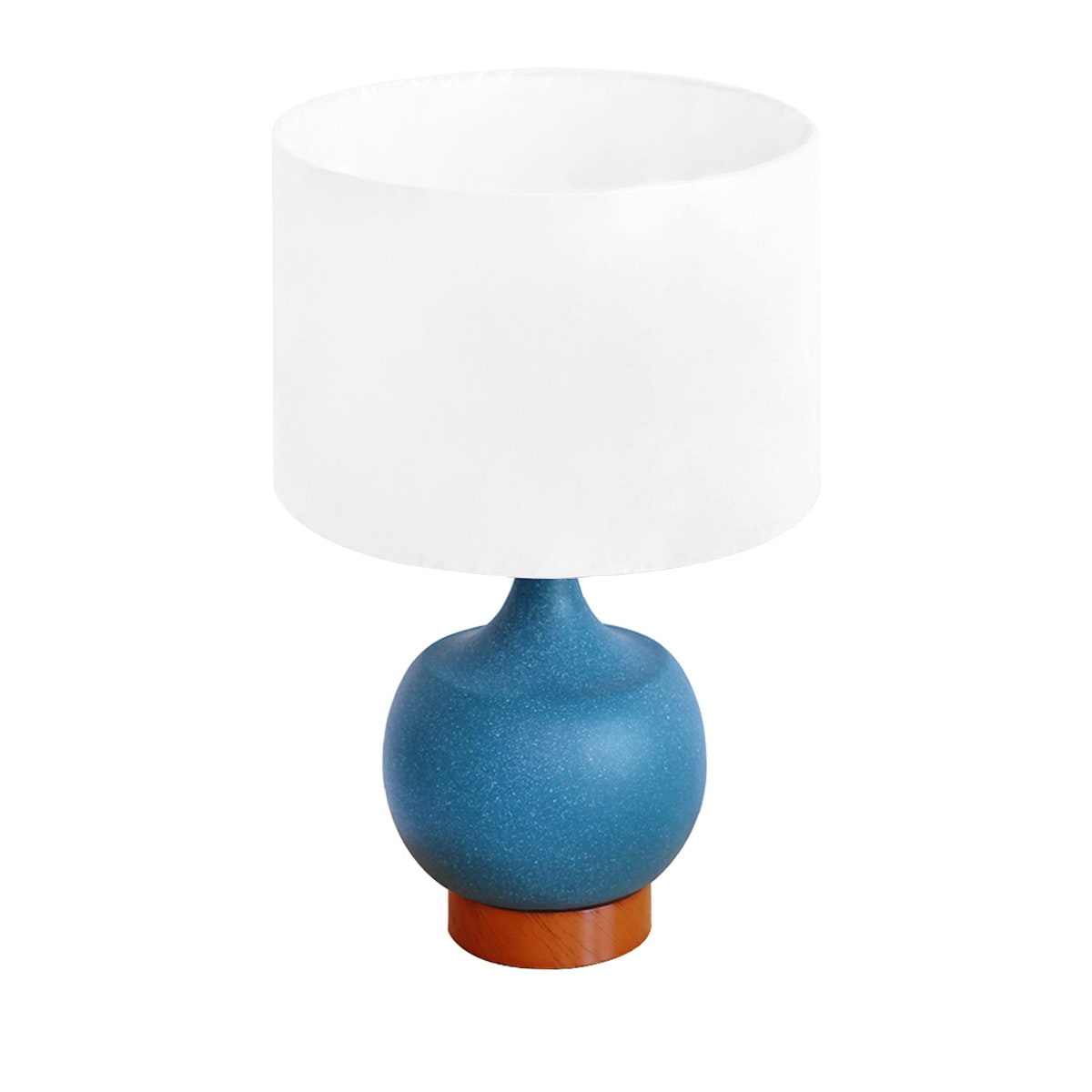 Thema Home Table Lamp Mulder Blue W/ Linen Shade