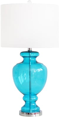 Kana Furniture Table Lamp Glass Blue Clear