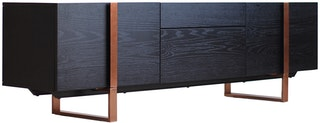 Kana Furniture Tv Stand Dali Black Oak/Rose Gold Centro