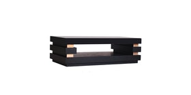 Kana Furniture Ct Dali Black Oak/Rose Gold Centro