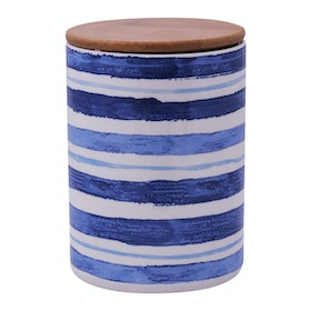 Kana Furniture Jar Blue Sripes and bamboo