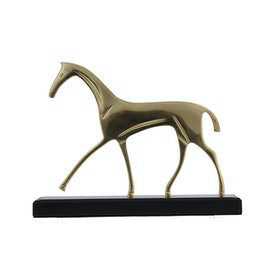 Kana Furniture Table Decor Horse Copper 10821 - Patung Hias