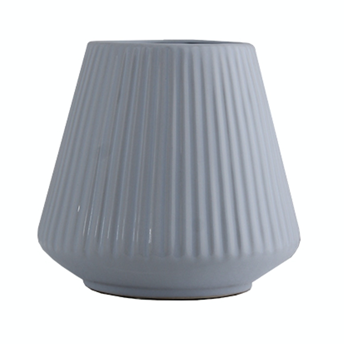 KANA FURNITURE Ceramic Vase Light White 14x14x13cm 10762 - Vas