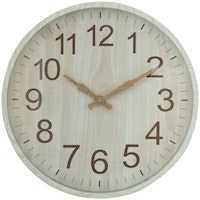 Kana Furniture Wall Clock Beige 12367 - Jam Dinding