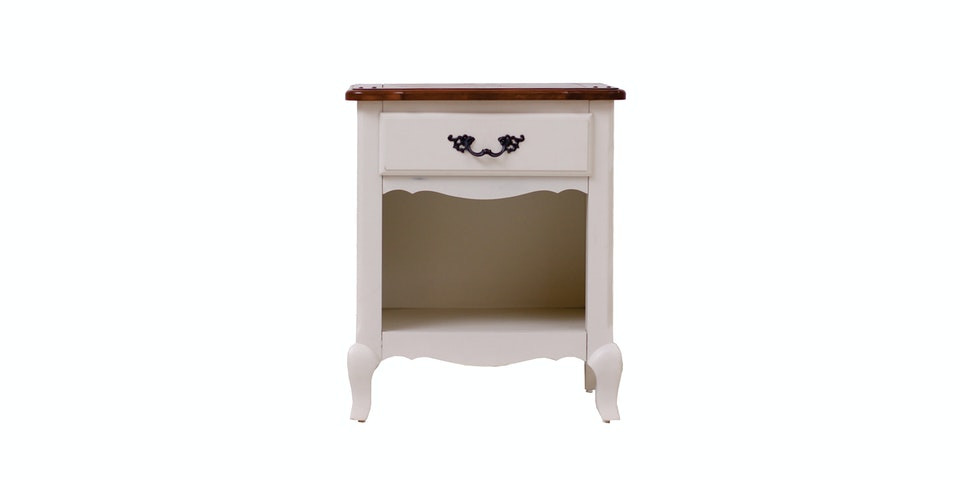 Kana Furniture Nightstand Marseile White