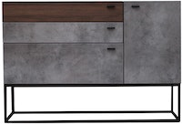 Kana Furniture Dresser Libbia Walnut Cement
