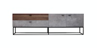 Kana Furniture TV Rack Libbia Walnut Cement
