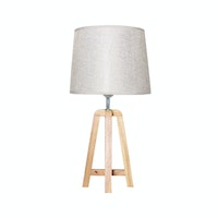 Kana Furniture Lampu Meja Segitiga Natural