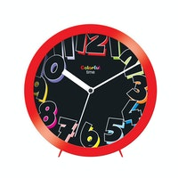 Ontime Colorfull Time Wall & Table Clock Red 2017-7 CT