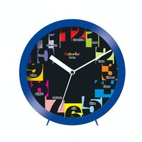 Ontime Colorfull Time Wall & Table Clock Blue 2017-8 CT