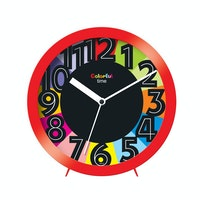Ontime Colorfull Time Wall & Table Clock Red 2017-9 CT