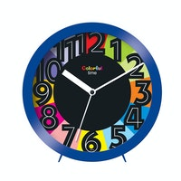 Ontime Colorfull Time Wall & Table Clock Blue 2017-9 CT
