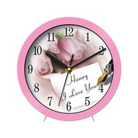 "Ontime Wall & Table Clock 2017 ""Honney I Love You"" Love Series V19"