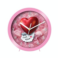 "Ontime Wall & Table Clock 2017 ""One Love 4Ever"" Love Series V12"