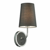3+Projects Lampu Dinding / Wall Lamp Black T/C Fabric Shade 3+DL-WD2008A/S-BL-VG