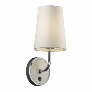 3+Projects Lampu Dinding / Wall Lamp White T/C Fabric Shade 3+DL-WD2008A-WH-VG