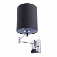 3+Projects Lampu Dinding/Wall Lamp Black Gauze Fabric Shade 3+DL-WD3008-1-BL-VG