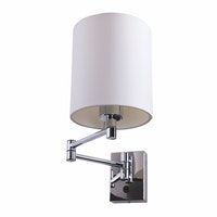 3+Projects Lampu Dinding/Wall Lamp White Gauze Fabric Shade 3+DL-WD3008-1-WH-VG