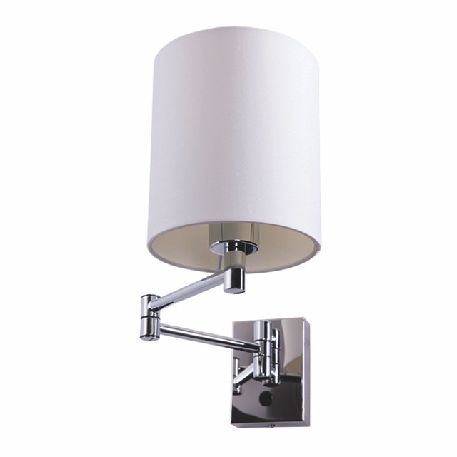 3+Projects Lampu Dinding / Wall Lamp White Gauze Fabric Shade 3+DL-WD3008-1-WH-VG