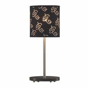 3+Projects Lampu Meja Table Lamp Black Pattern Fabric Shade 3+DL-PD1174-BL-VG