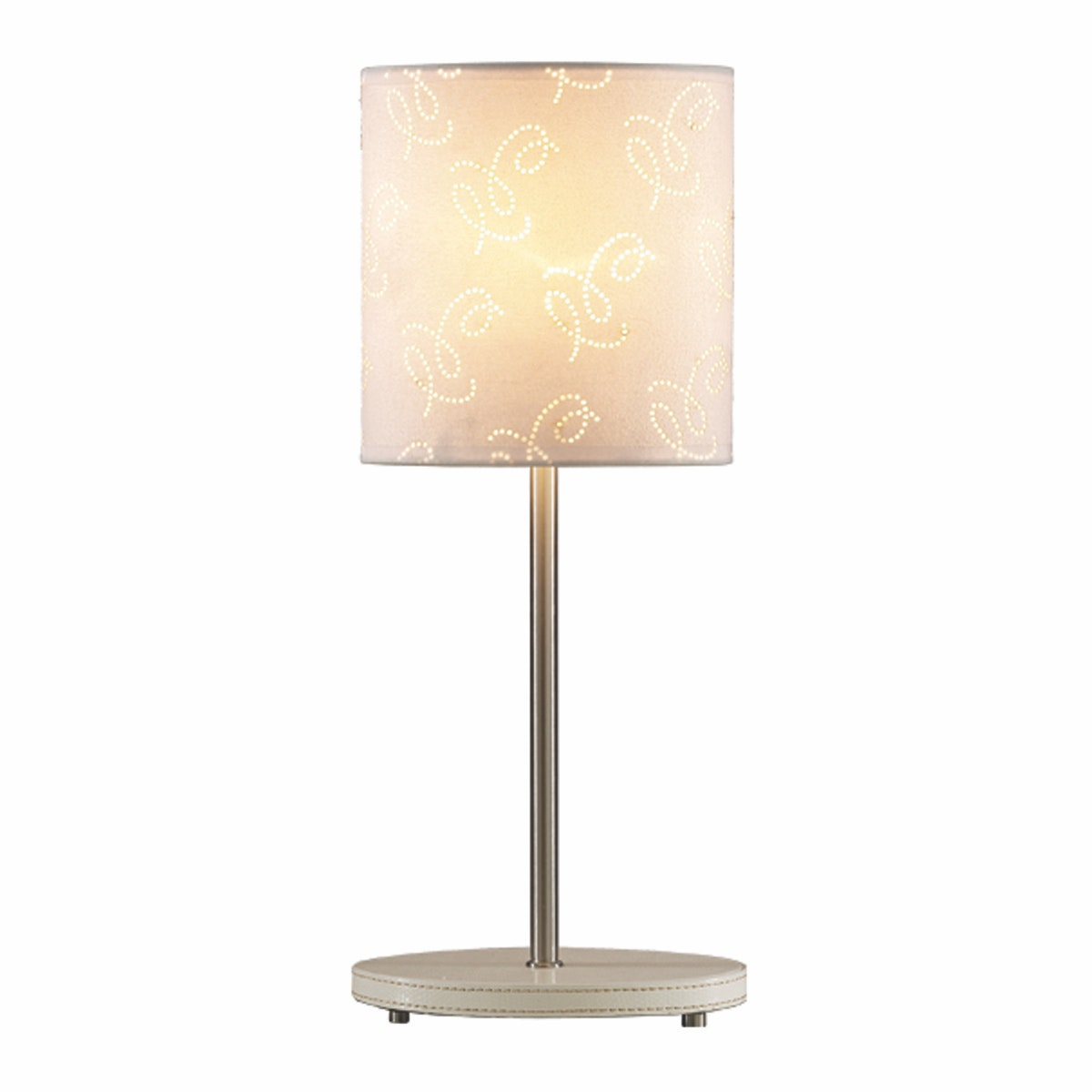 3+PROJECTS Lampu Meja Table Lamp White Pattern Fabric Shade 3+DL-PD1174-WH-VG