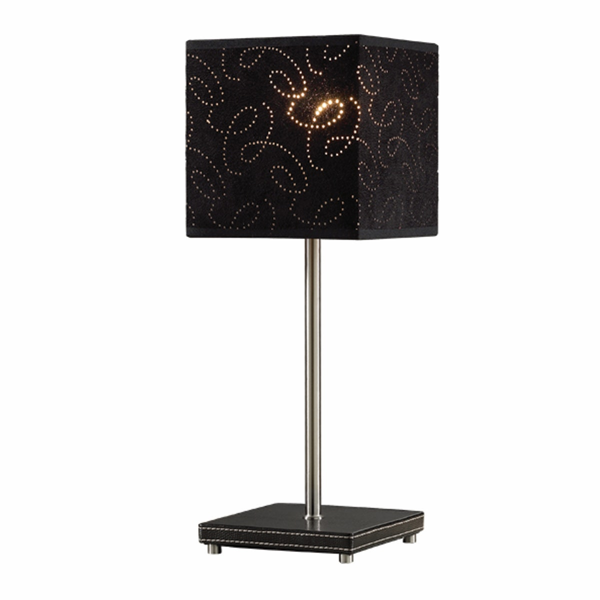 3+Projects Lampu Meja Table Lamp Black Pattern Fabric Shade 3+DL-PD1173-BL-VG