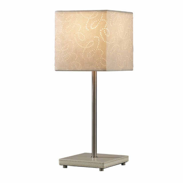 3+Projects Lampu Meja Table Lamp White Pattern Fabric Shade 3+DL-PD1173-WH-VG