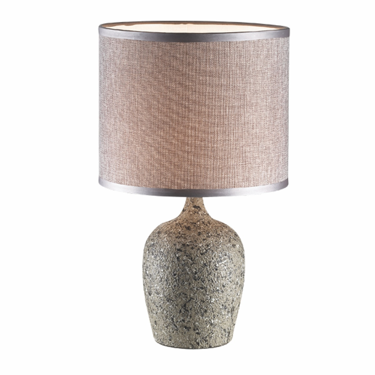 3+PROJECTS Lampu Meja Table Lamp Grey Fabric Shade 3+DL-PD7141-GR-VG