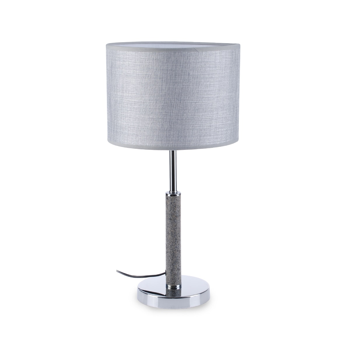 3+Projects Lampu Meja Table Lamp Grey Fabric Shade 3+DL-PD4033-GR-VG