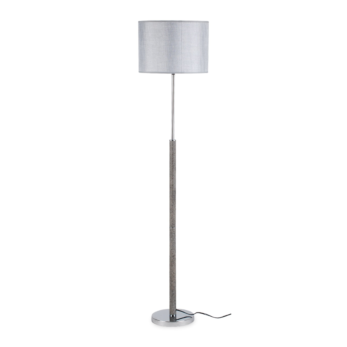 3+Projects Lampu Lantai Floor Lamp Grey Fabric Shade 3+DL-LD4033-GR-VG