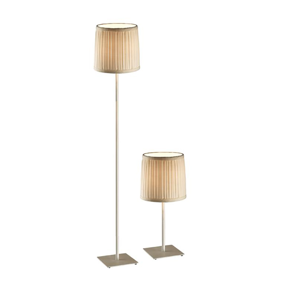 3+PROJECTS Combo Set (1 Table Lamp+1 Floor Lamp) White 3+DL-1276-WH-VG