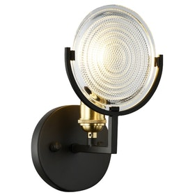 3+Projects Lampu Dinding/Wall Lamp E27 Steel+Glass Coffee Brown 3+Mpw6374-1A
