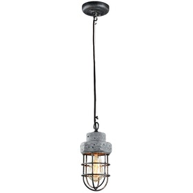 3+Projects Lampu Gantung / Pendant Lamp 1*E27 D13*H133.5 Steel+Cement Grey With Antique Point