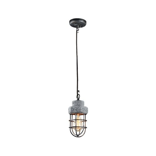 3+Projects Lampu Gantung/Pendant Lamp 1*E27 D13*H133.5 Steel+Cement Grey With Antique Point