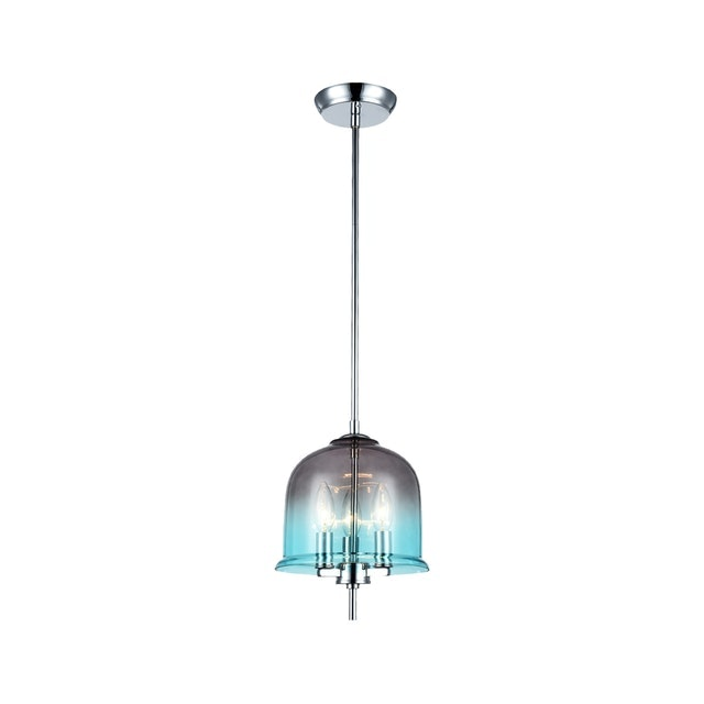3+Projects Lampu Gantung / Pendant Lamp 3*E14 D23*H138 Steel+Glass Polished Chrome
