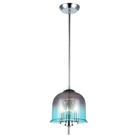 3+Projects Lampu Gantung/Pendant Lamp 3*E14 D23*H138 Steel+Glass Polished Chrome