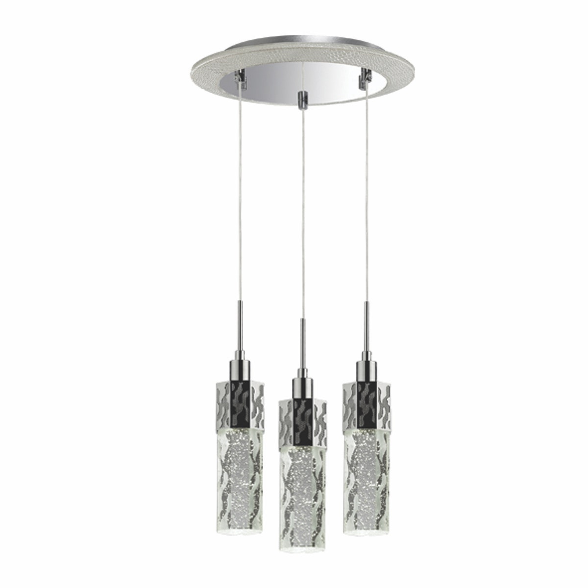 3+Projects Lampu Gantung 3 Pendant Round Bubble Crystal 3+DL-HD1302-3Bb-VG