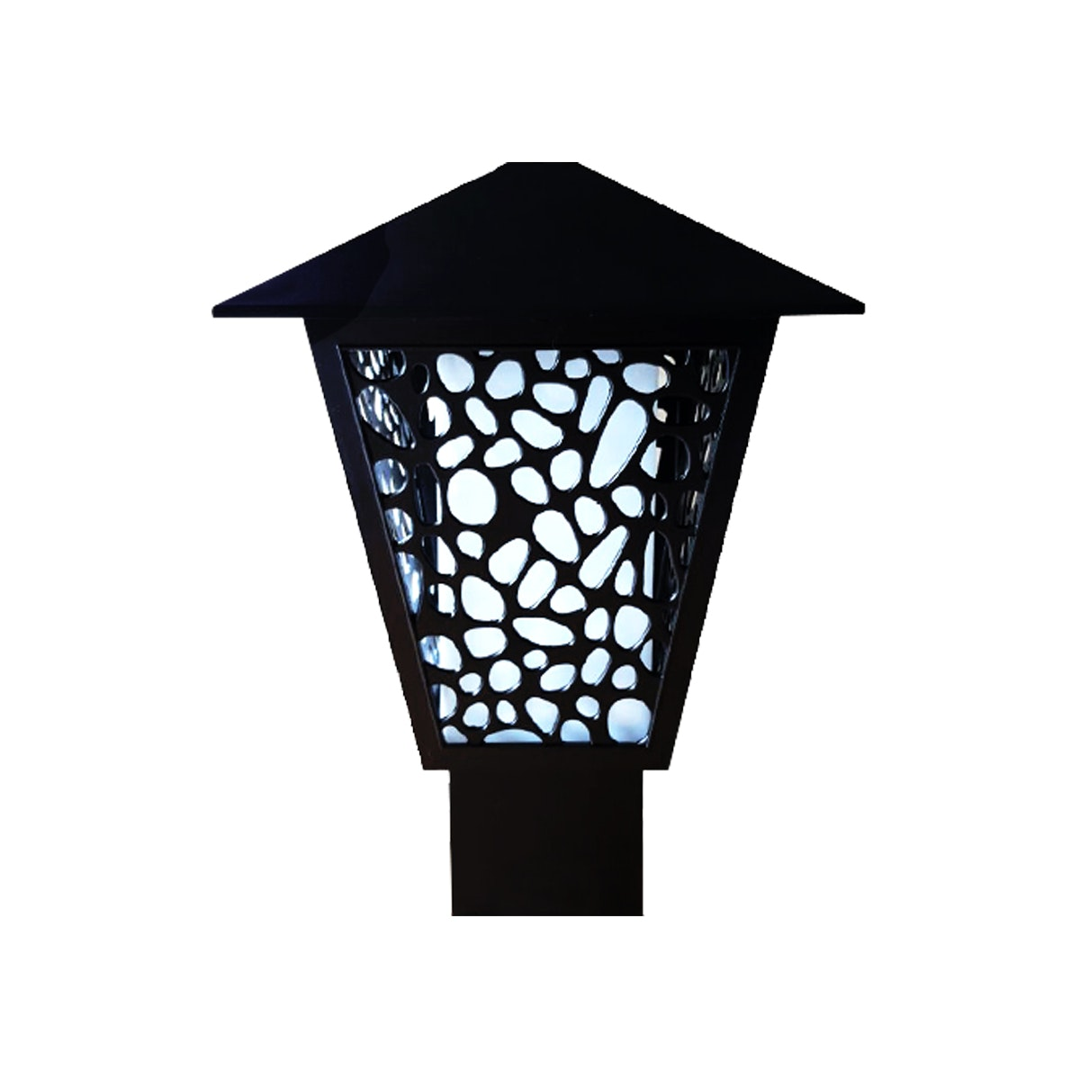 3+Projects Lawn Gate Lamp / Outdoor Lamp / Lampu Taman / Garden 3+FR147104A-BL