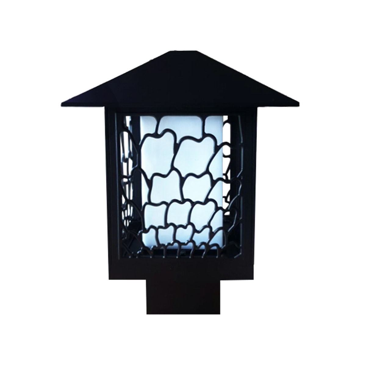 3+Projects Lawn Gate lamp / Lampu Taman / Outdoor Lamp / Garden 3+FR8702A-BL